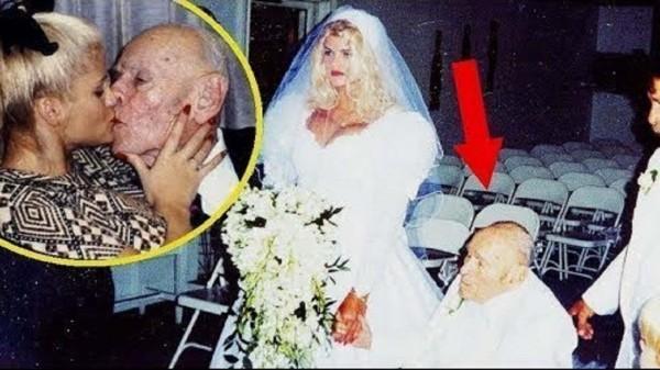 Nunta lui James Howard Marshall, în vârstă de 89 de ani cu Anna Nicole Smith, supermodel  în vârstă de 28 de ani vizualizări